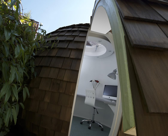Shed Pictures Design: Rustic Western Red Cedar Wood Shingles Spherical Design