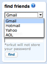 Add AOL,Hotmail and Yahoo Friends in ORKUT
