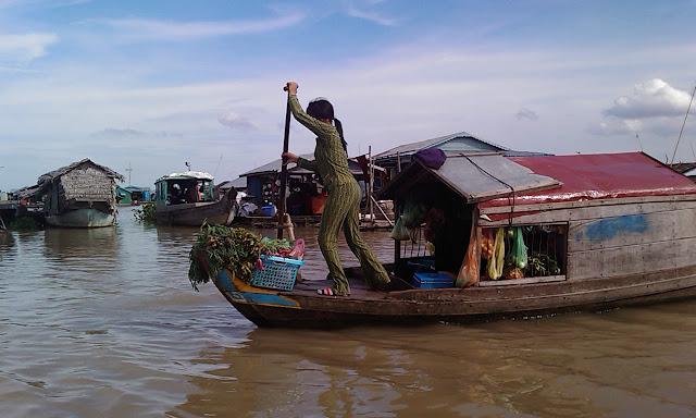 Living at a floating village in Kampong Chhnang, Cambodia