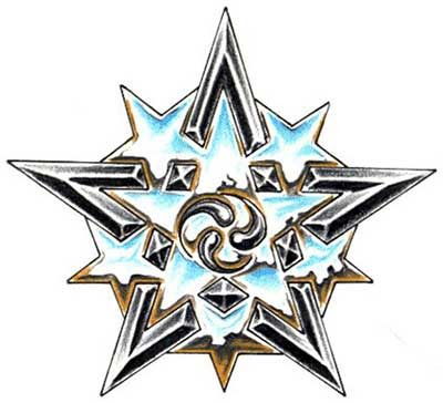 Black Star Tattoo Design