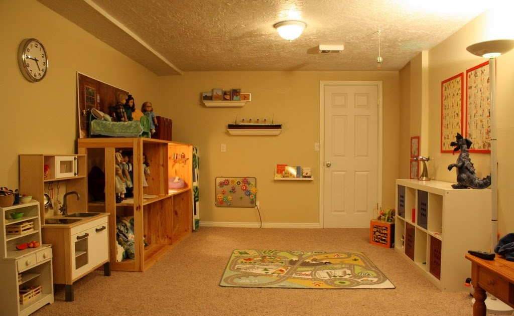 Happier Still: Playroom {our awesome basement!}