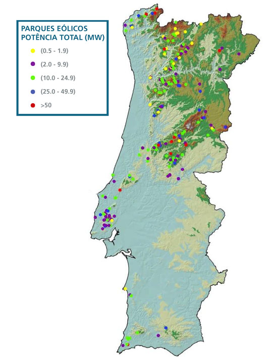 mapa de parques eólicos em portugal Go Green for the World: 2010 mapa de parques eólicos em portugal