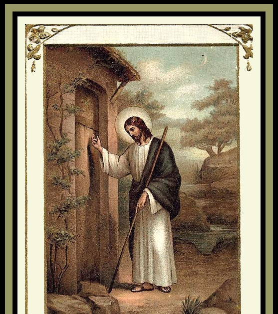 Holy Cards For Your Inspiration Jesus At The Door