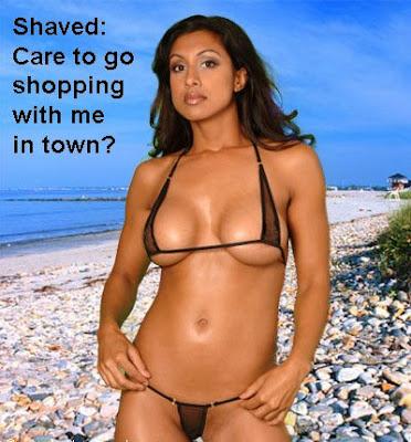 girls shaved