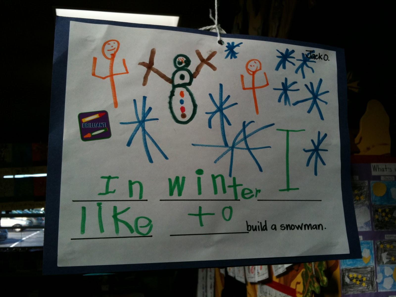 Miss Egnatuk S Developmental Kindergarten Winter Activities