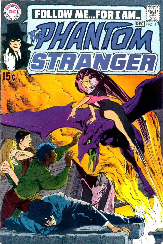 Phantom Stranger v2 #4 - 1960s dc horror comic book cover art by Neal Adams