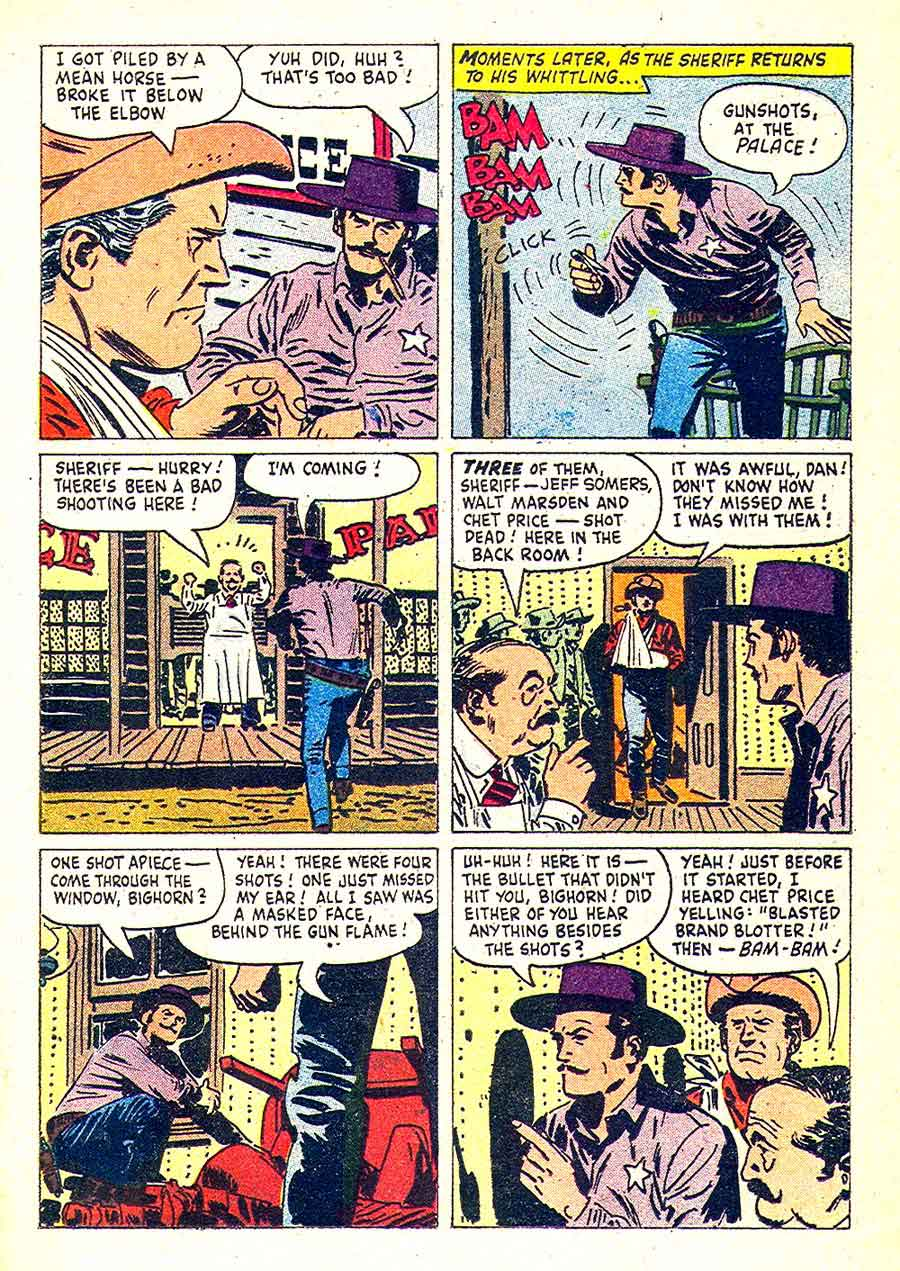 Wagon Train v1 #5 dell western commic book page art by Alex Toth