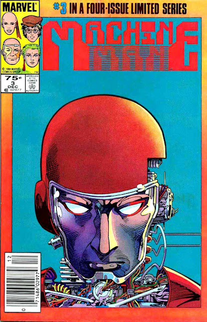 Machine Man v2 #3 marvel 1980s comic book cover art by Barry Windsor Smith