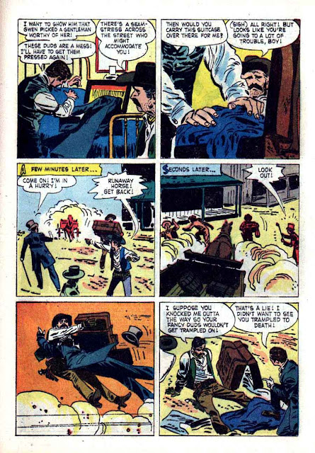 Maverick v1 #10 - Alex Toth dell tv western silver age comic book page art