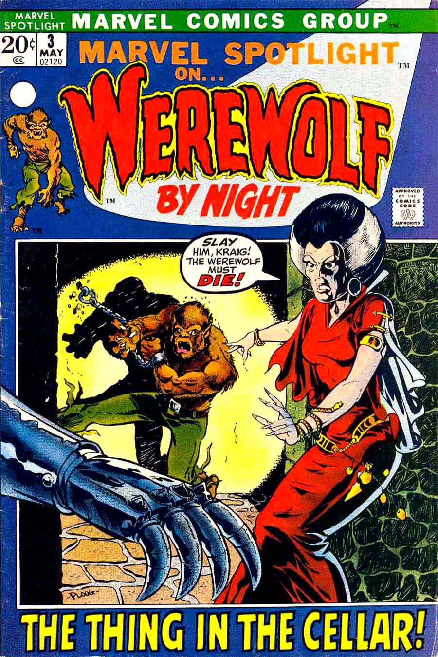 Marvel Spotlight v1 #3 Werewolf by Night marvel comic book cover art by Mike Ploog