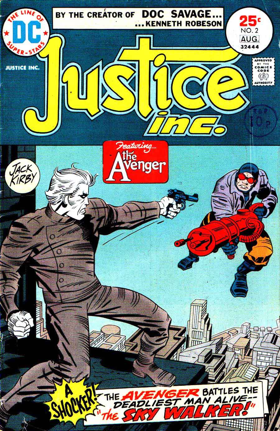 Justice Inc. v1 #2 dc bronze age comic book cover art by Jack Kirby