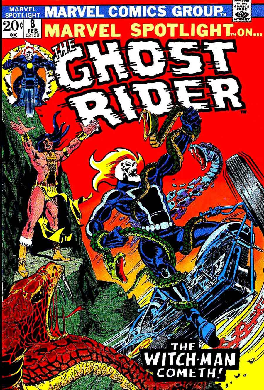 Marvel Spotlight v1 #8 Ghost Rider marvel comic book cover art by Mike Ploog