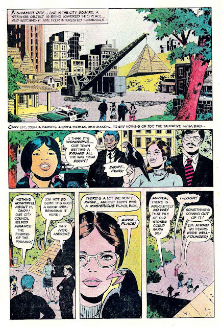 Isis v1 #1 dc bronze age comic book page art by Wally Wood art
