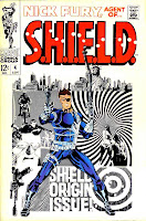Nick Fury Agent of Shield v1 #4 1960s marvel comic book cover art by Jim Steranko