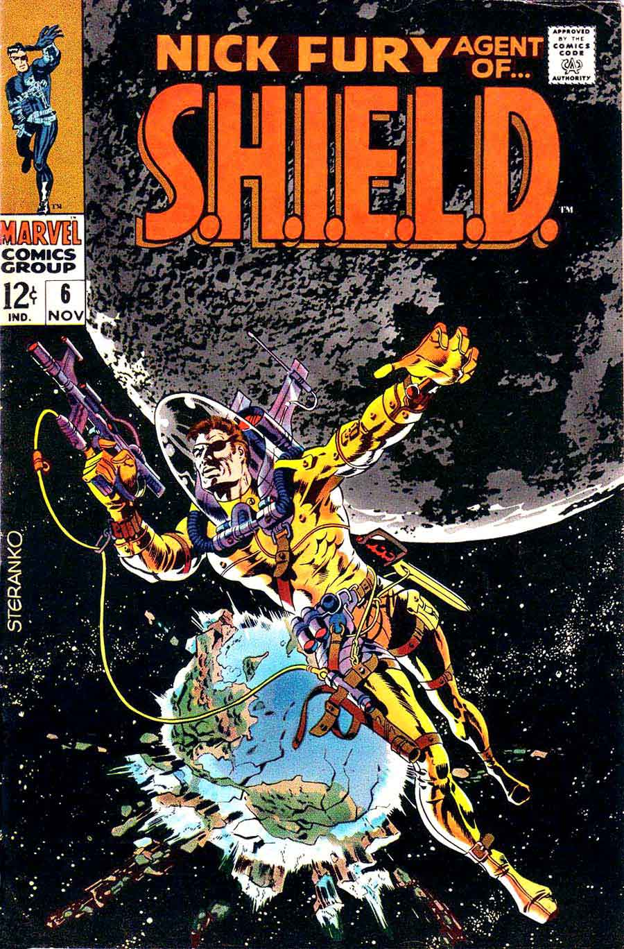 Nick Fury Agent of Shield v1 #6 1960s marvel comic book cover art by Jim Steranko