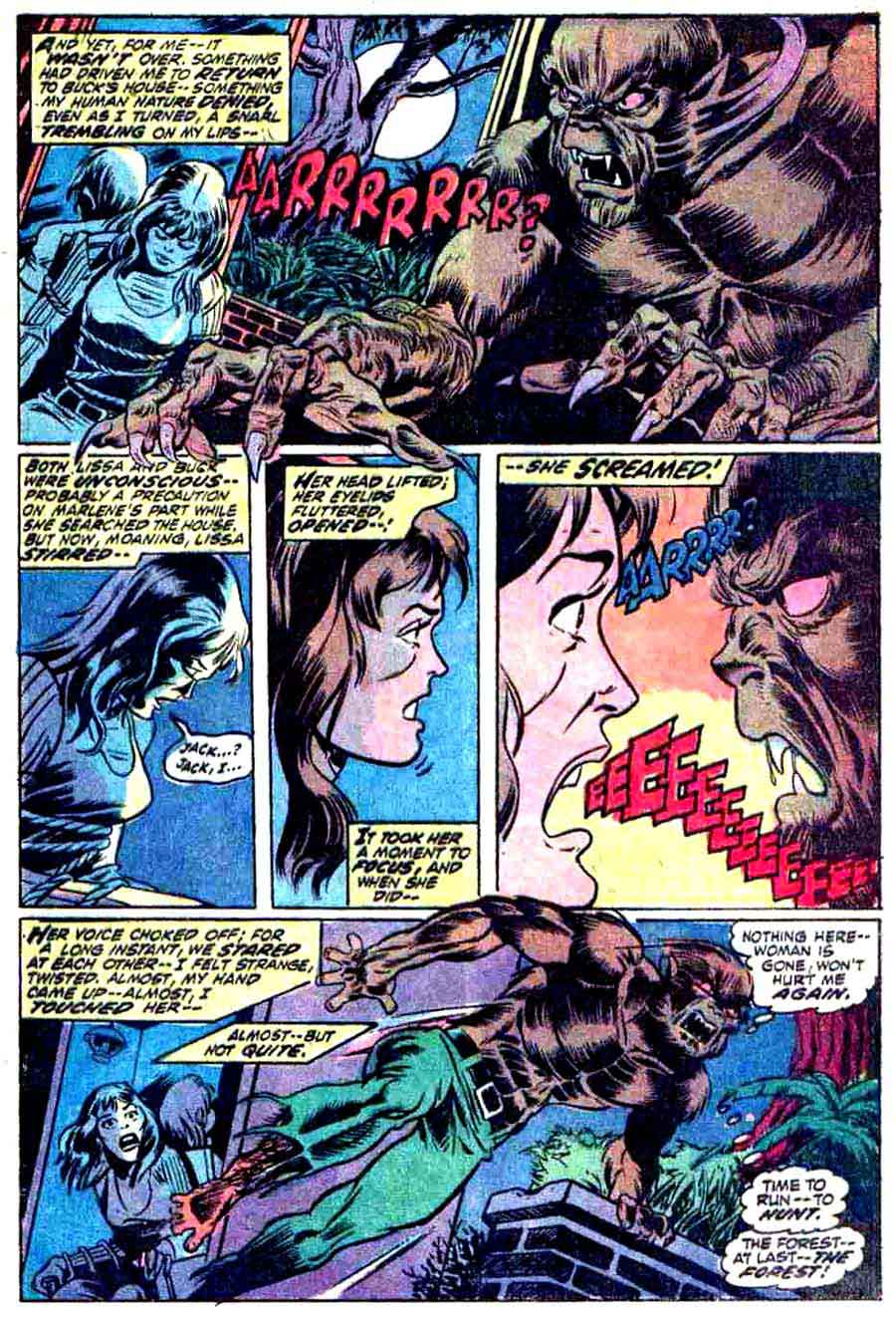Werewolf by Night v1 #1 1970s marvel comic book page art by Mike Ploog