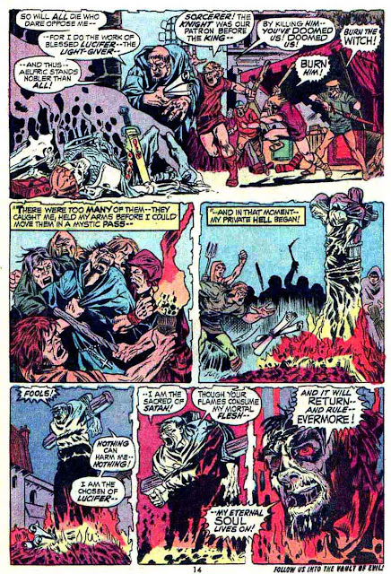 Werewolf by Night v1 #3 1970s marvel comic book page art by Mike Ploog