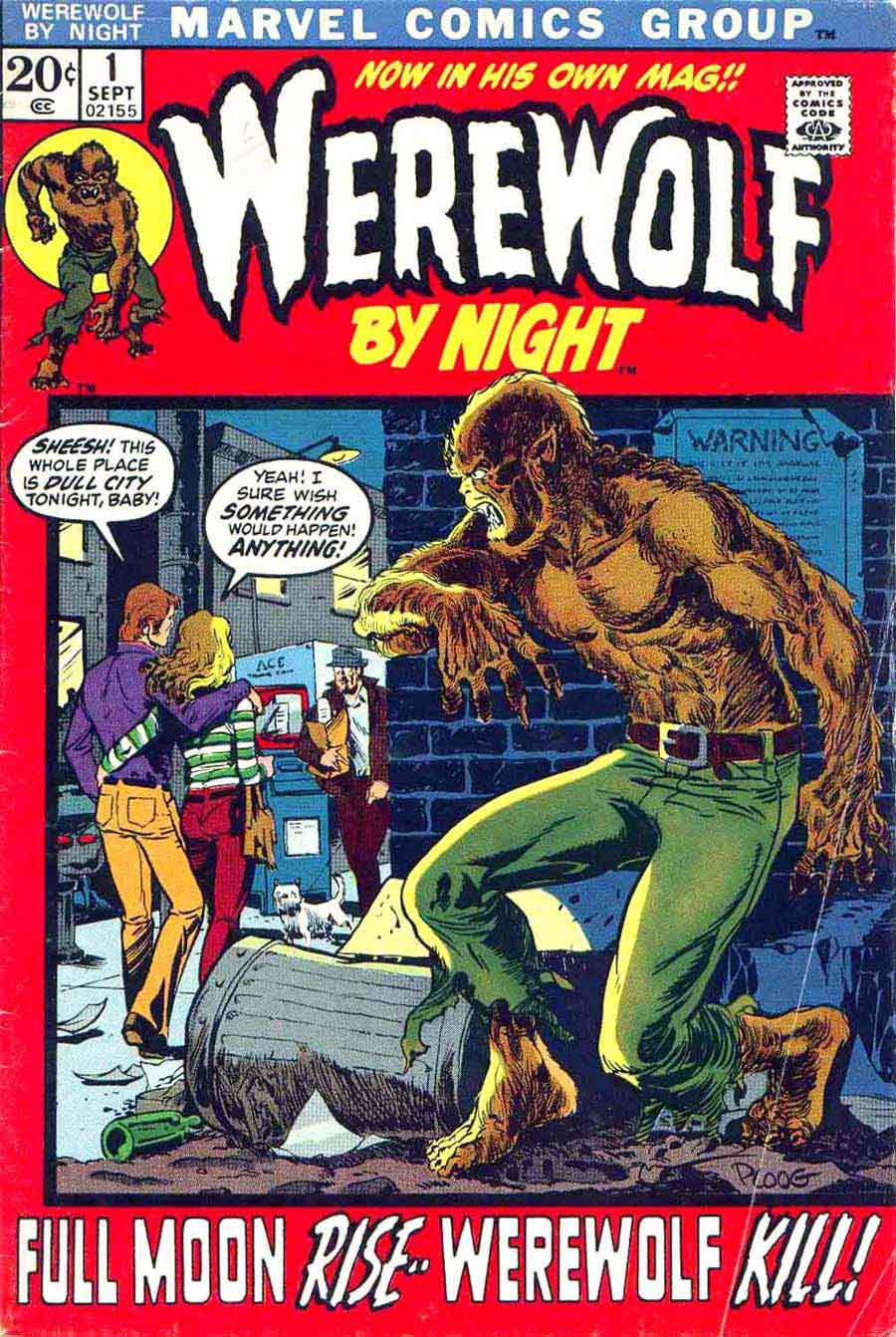 Werewolf by Night v1 #1 1970s marvel comic book cover art by Mike Ploog