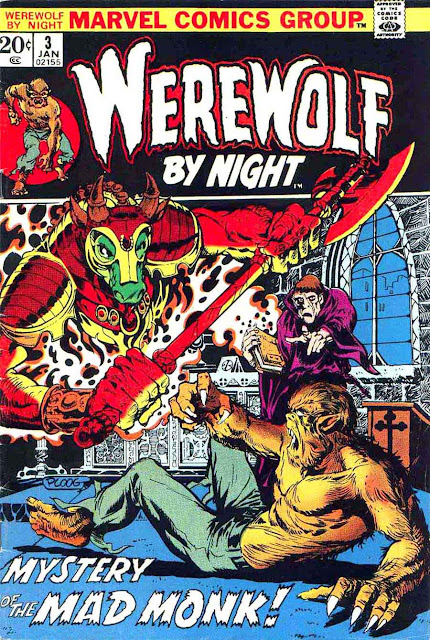 Werewolf by Night v1 #3 1970s marvel comic book cover art by Mike Ploog