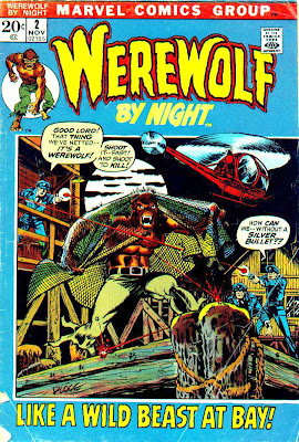Werewolf by Night v1 #2 1970s marvel comic book cover art by Mike Ploog