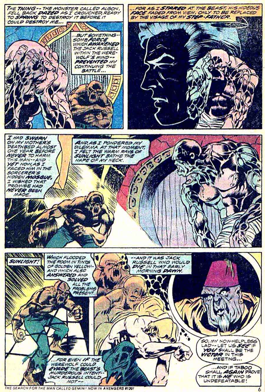 Werewolf by Night v1 #14 1970s marvel comic book page art by Mike Ploog