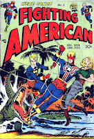 Fighting American v1 #5 harvey comic book cover art by Jack Kirby
