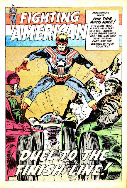 Fighting American v1 #1 harvey comic book page art by Jack Kirby