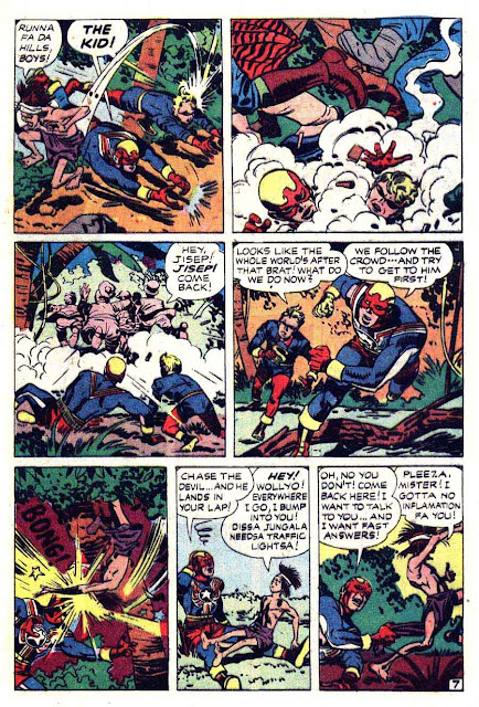 Fighting American v1 #5 harvey comic book page art by Jack Kirby