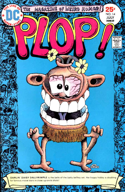 Plop v1 #14 dc 1970s bronze age comic book cover art by Basil Wolverton