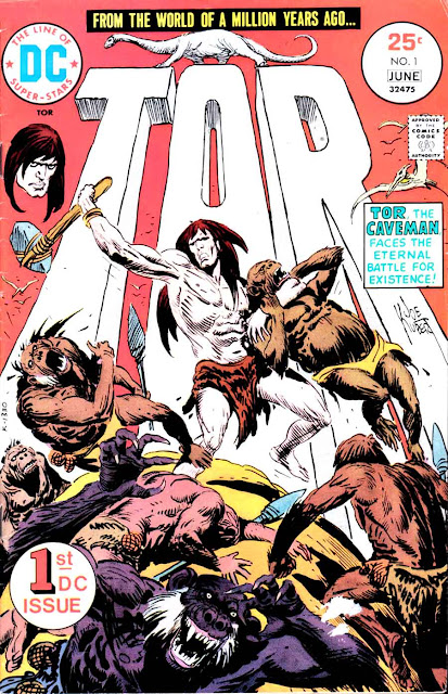 Tor v2  #1, 1975 dc bronze age comic book cover by Joe Kubert