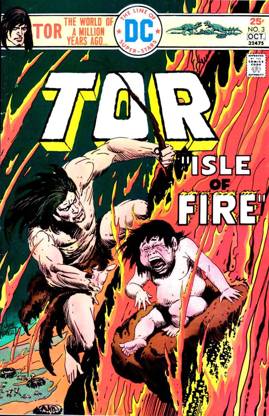 Tor v2 #3 dc bronze age comic book cover art by Joe Kubert