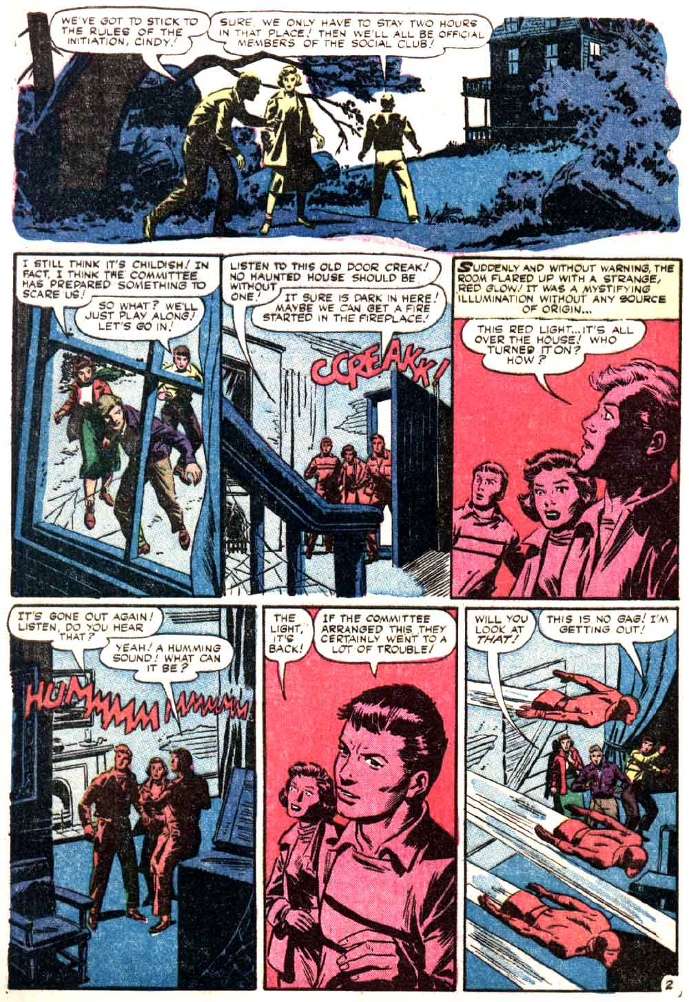 World of Mystery v1 #6 atlas comic book page art by Al Williamson