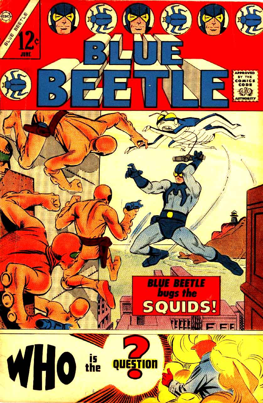 Blue Beetle v5 # charlton 1960s silver age comic book cover art by Steve Ditko
