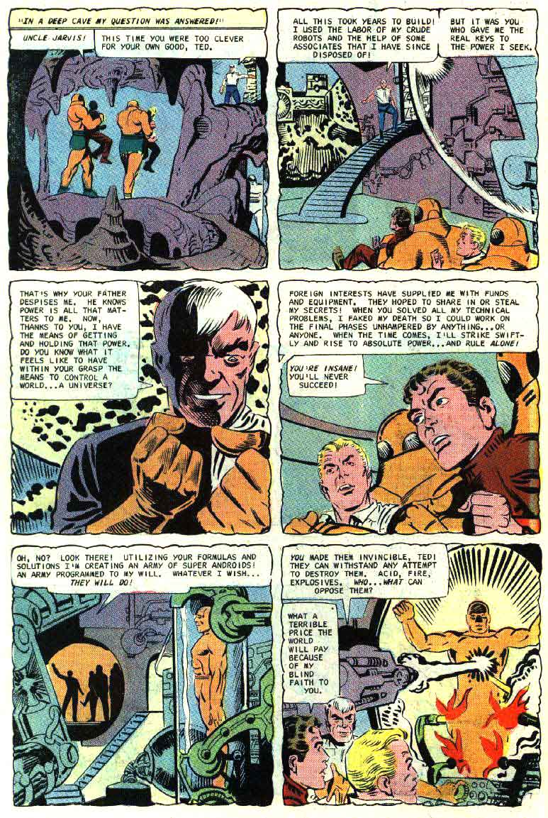 Blue Beetle v5 #2 charlton 1960s silver age comic book page art by Steve Ditko
