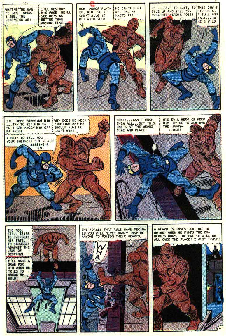 Blue Beetle v5 #5 charlton 1960s silver age comic book page art by Steve Ditko