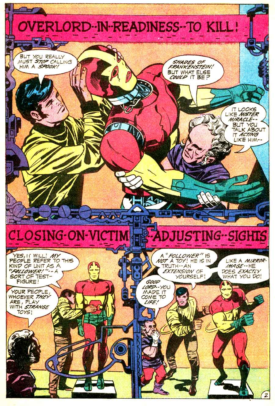 Mister Miracle v1 #2 dc 1970s bronze age comic book page art by Jack Kirby