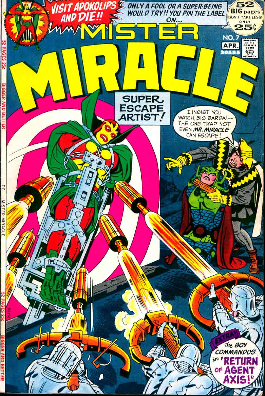 Mister Miracle v1 #7 dc 1970s bronze age comic book cover art by Jack Kirby