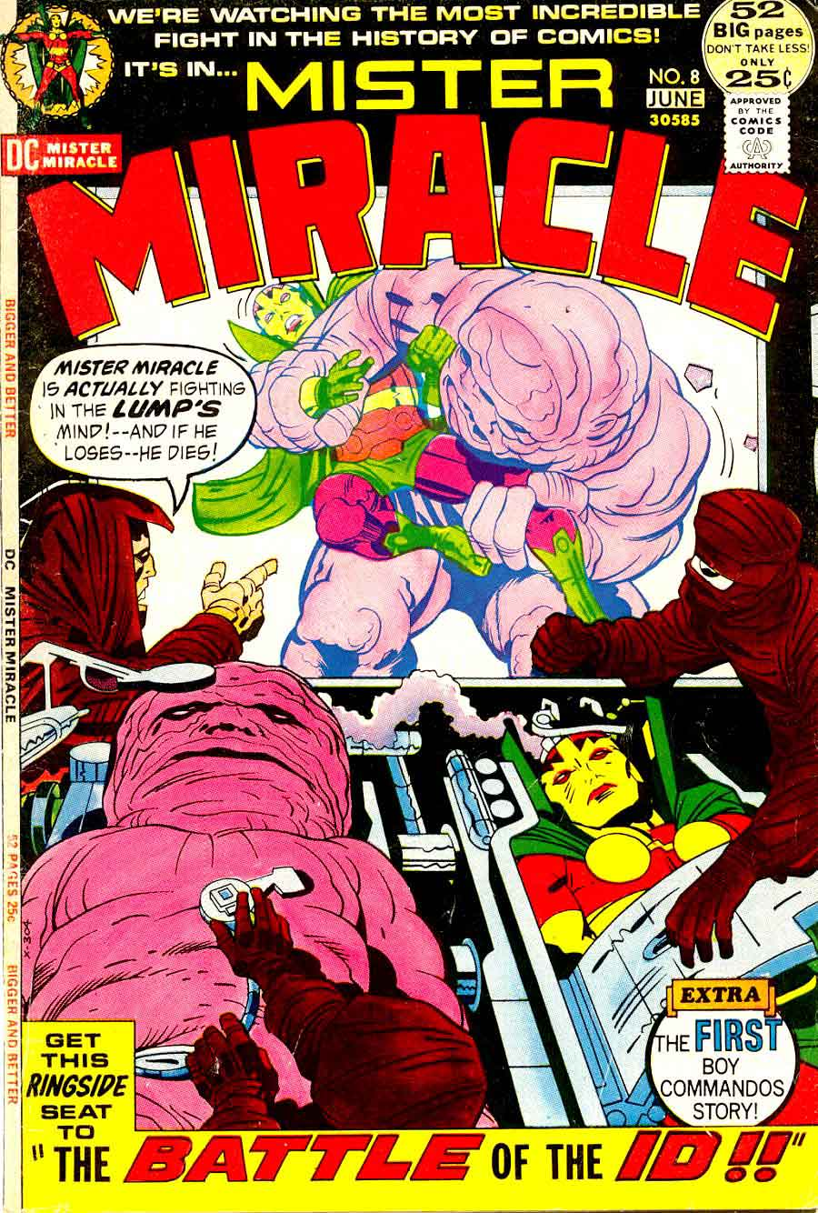 Mister Miracle v1 #8 dc 1970s bronze age comic book cover art by Jack Kirby