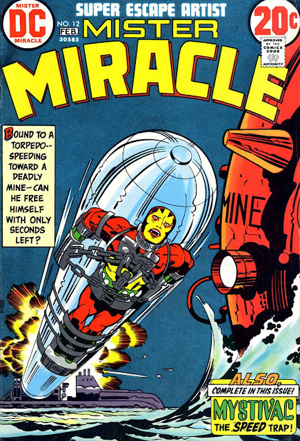 Mister Miracle v1 #12 dc bronze age comic book cover art by Jack Kirby