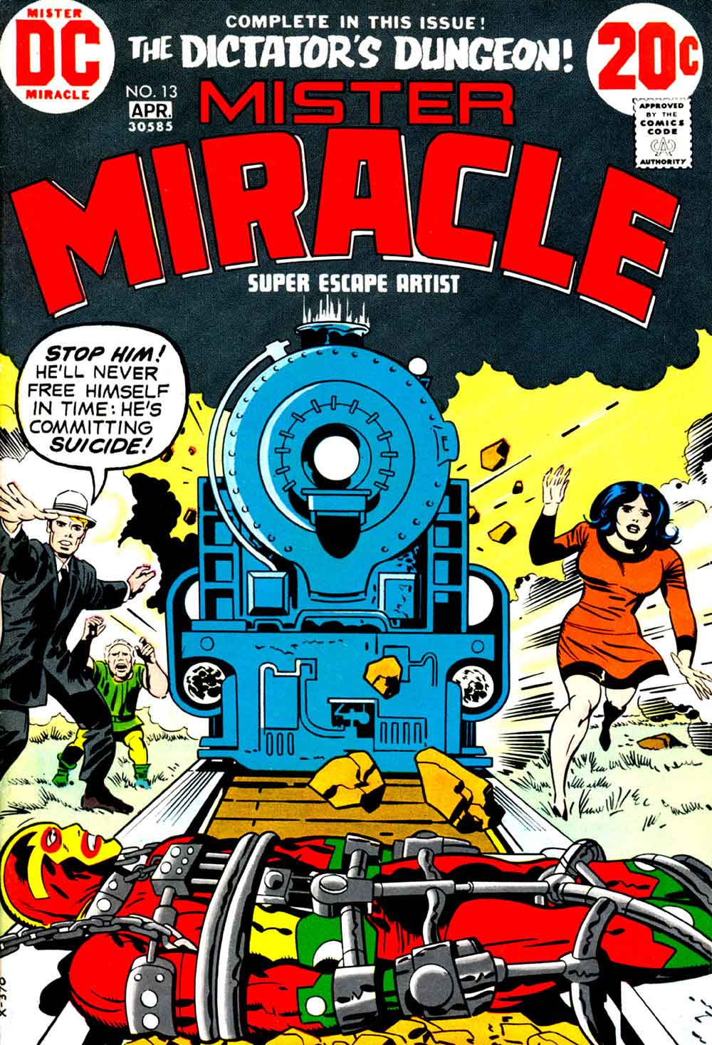 Mister Miracle v1 #13 dc bronze age comic book cover art by Jack Kirby