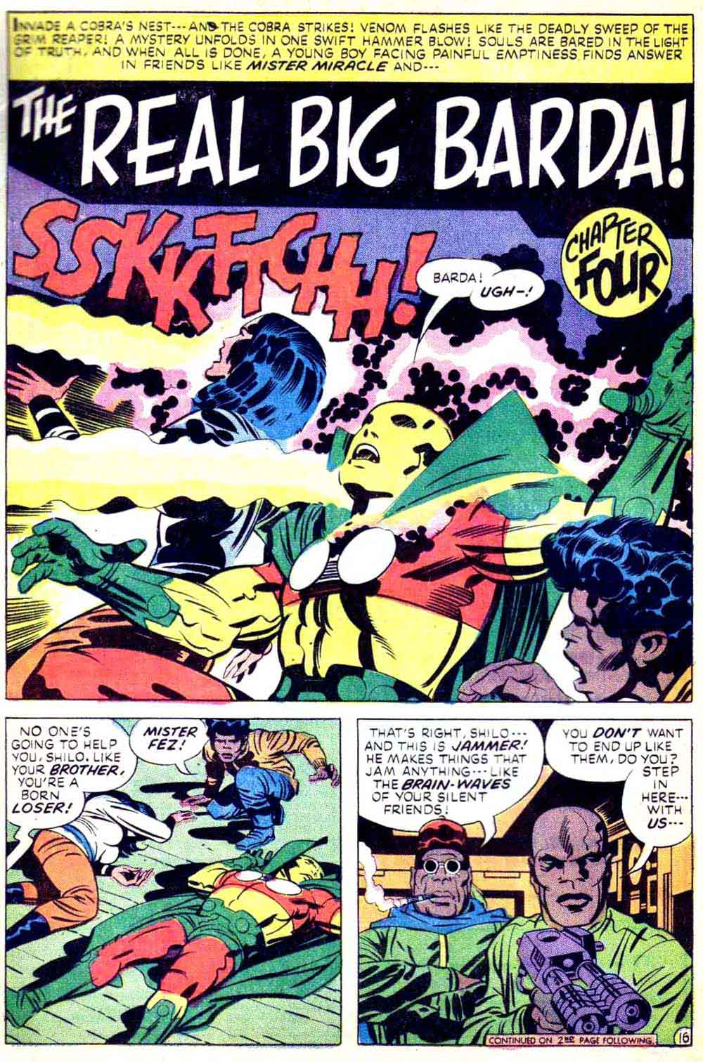 Mister Miracle v1 #15 dc bronze age comic book page art by Jack Kirby