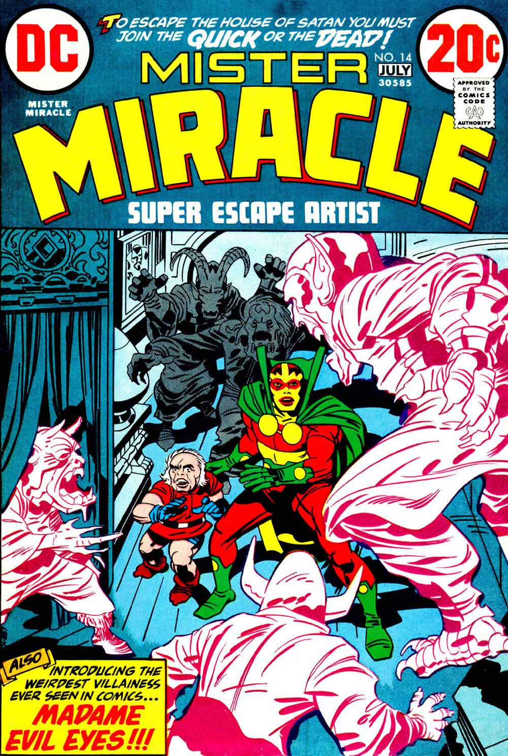 Mister Miracle v1 #14 dc bronze age comic book cover art by Jack Kirby