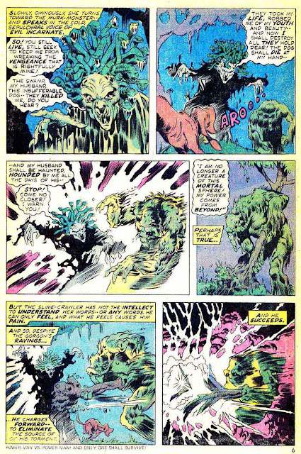Man-Thing v1 #10 marvel 1970s bronze age comic book page art by Mike Ploog