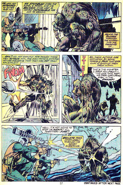 Man-Thing v1 #11 marvel 1970s bronze age comic book page art by Mike Ploog