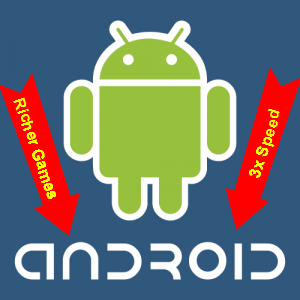 android 3x faster apps and richer games