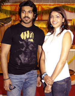 Ramcharan Takes Kajal On Horse Riding
