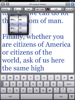speechprompter iPad app