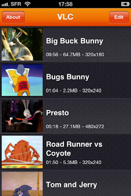 VLC media player app iPhone.