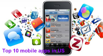 top 10 mobile apps in US
