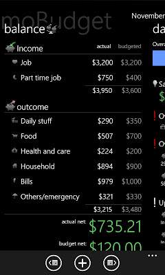 mobudget wp7 finance app